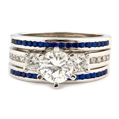 Loving the idea of something like this for all my boys birthstones. Diamonds and sapphires.