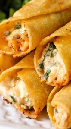 Cream Cheese and Chicken Taquitos, sub greek yogurt for sour cream and lower fat cream cheese for regular