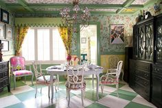 Green and White  - HouseBeautiful.com