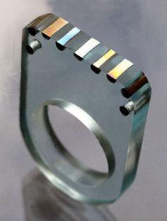 Ring - Acrylic and Titanium Gunilla Treen 1970