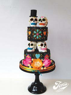 our cakes — Jen's Cakery http://www.jenscakery.co.uk/our-cakes/#/day-of-the-dead/