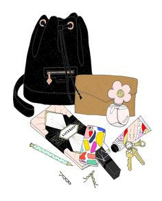 EmmaKisstina Illustrations by Kristina Hultkrantz: Blogger What's in my Bag: Ashley of Sugar and Cloth