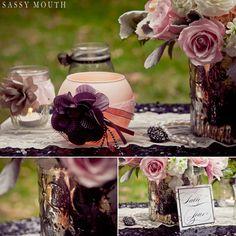 Rustic Romantic Wedding Table Decoration Sleeping Beauty - The Sassy Princess Brides - Sassy Mouth