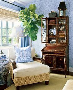 fiddle leaf fig tree, that is something I am looking for!!! I LOVE this whole look!!!