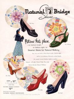 Natural Bridge Shoes 1950 http://www.pinterest.com/source/vintageads.tumblr.com/