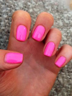 NailsByNumbers: NOTD! Gelish 'Make you Blink Pink' - Neon Pink