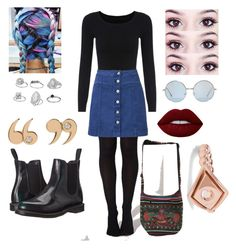 """""""Untitled #52"""" by lacie-clair on Polyvore featuring Witchery, Dr. Martens, Miss Selfridge, Lime Crime, Love Is and Arme De L'Amour"""