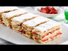 Çilekli Milföy Pasta Nasıl Yapılır? - YouTube