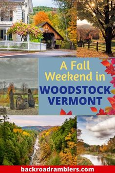 Fall Vacations, Dream Vacations, Rutland Vermont, Quechee Vermont, Woodstock Vermont, United States Travel, Covered Bridges, Hiking Trails, Travel Usa