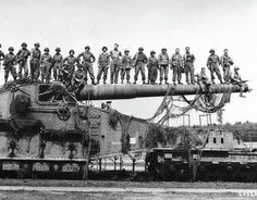 Two German railway guns (named Robert & Leopold by the Germans) were used to shell the Anzio beachhead.  They had a 20 mile range. Both guns were captured by the 168th Infantry Regiment, 34th Div., on June 7, 1944. US Soldiers called them Anzio Annie.