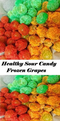 #Healthy #Sour #Candy #Frozen #Grapes