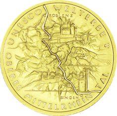 100 Euro Gold Oberes Mittelrheintal 2015 F UN