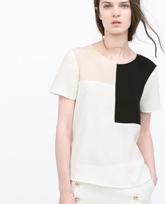 Image 2 of COLOR BLOCK TOP from Zara