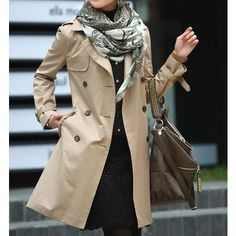 Women's Double Breasted Classic Trench Coat