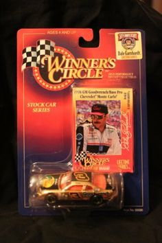 Winners Circle 1/64 scale diecast stock car with collectible card #3 Dale Earnhardt lefetime series 50th anniversary 1998 GM Goodwrench/Bass Pro Chevrolet Monte Carlo1998 by Kenner. $3.99