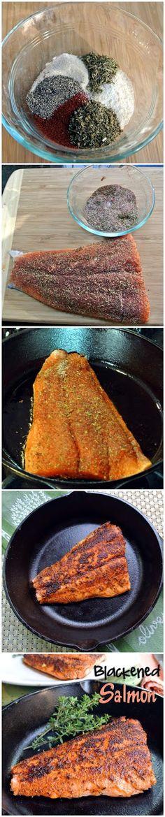Blackened Salmon by askmefood #Salmon #Blackened