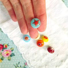 Pretty Fused Glass Buttons A Jolly Mixture of by PamelaAngus