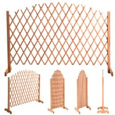 Expanding Portable Fence Wooden Screen Dog Gate Pet Safety Kid Patio Garden Lawn * To view further, visit now : Dog gates Wood Trellis, Bamboo Fence, Cedar Fence, Front Yard Fence, Dog Fence, Small Fence, Horizontal Fence, Fence Landscaping, Backyard Fences