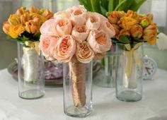 From designsbyhemingway.com Juliet Garden Roses and Parrot Tulips