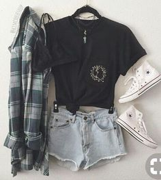 Summer teen, flannel outfits summer, hipster outfits for teens, outfits Hipster Outfits For Teens, Casual Summer Outfits For Teens, Summer Fashion For Teens, Teen Fashion Outfits, Mode Outfits, Trendy Outfits, Teenage Outfits, Hipster Fashion, Fashion Clothes