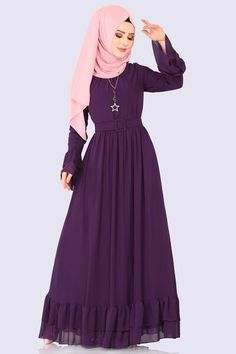 Hijab Dress, Anarkali Dress, Dress Outfits, Muslim Fashion, Hijab Fashion, Fashion Dresses, The Dress, High Neck Dress, Black Outfit Men