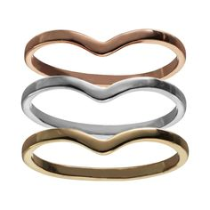 LC Lauren Conrad Midi Stack Ring Set