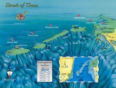 Red Sea dive map, Strait of Tiran