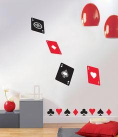 Collection : TRENDY STICKERS / Ambiance Poker #stickers #decoration #interieur #sticker #poker #voyage #casino #lasvegas #couleur #papierpeint #Caselio www.caselio.fr