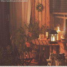 LEDランタン/IKEAテーブルセット/夜景が観える部屋/おうちBAR/ベランダDIY…などのインテリア実例 - 2015-01-22 17:35:03   RoomClip(ルームクリップ)