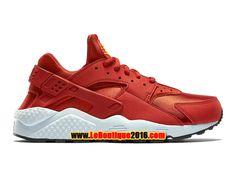 Nike Wmns Air Huarache GS Femme Chaussures NIke Pas Cher Rouge/Blanc 634835-600