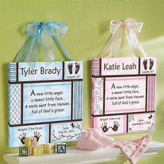 Baby Information Canvas.. this is cute