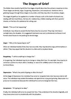 Printables Grief And Loss Worksheets stages of grief the ojays and on pinterest education printout preview repinned by melissa k nicholson