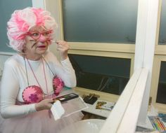 Toronto's Linda Chamberlain prepares for her clown school graduation performance. The mental health and housing advocate is still giving to others despite being diagnosed with cancer last fall. Clown School, Graduate School, We The People, Mental Health, Toronto, Graduation, Cancer, Hero, Fall