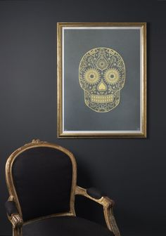 Gold Day of the Dead Screen Print Release