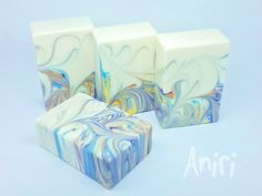 Whirl of Excitement by Aniri - Cold Process Soap - Mantra Marble Swirl - #soApbyAniri