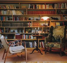 Floor To Ceiling Bookshelves, Men With Street Style, S Man, Upholstered Chairs, Future House, Shelving, Flooring, Room, Bookcases