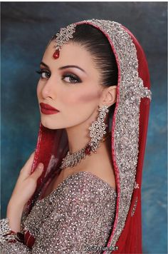 Indian bride, red