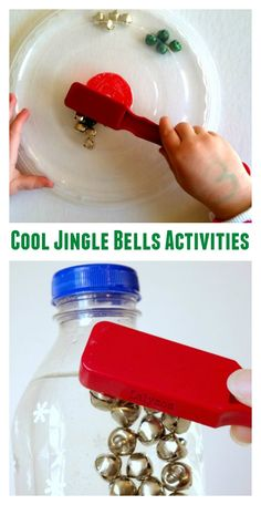 So many fun ways to play with jingle bells from LalyMom! Try these cool jingle bells activities for kids at your kid's Christmas party or in the classroom. From magnets and mazes to sensory bins and so much more, you're sure to find a jingle bell activity any child will love! #christmas #kids #games #mazes #magnets #jinglebells #activitiesforkids #sensorybin