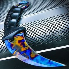 TACTICAL CS GO KARAMBIT KNIFE Survival Hunting BOWIE Fixed Blade CASE HARDENED