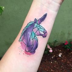 #unicorn #tattoo #watercolor #wctattoos #unicorntattoo #colortattoo