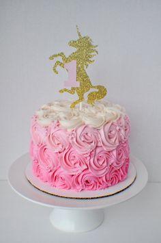 Unicorn Cake Topper by SmashCaked on Etsy