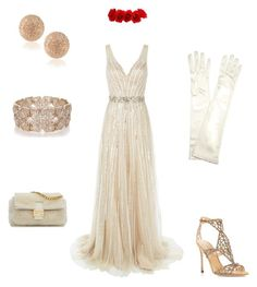 """#styleicon"" by arshaakashyap ❤ liked on Polyvore featuring Jovani, John Lewis, Sergio Rossi, Carolina Bucci, Oasis, Fendi, women's clothing, women's fashion, women and female"