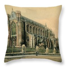 Vintage Throw Pillow featuring the photograph Church Of The Sacred Heart Wimbledon by Aapshop