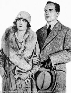 Married woman: She is pictured left just after the wedding in 1928 and right with her new husband in a sketch. They were divorced in 1930  Read more: http://www.dailymail.co.uk/news/article-2627292/Never-seen-photographs-copper-heiress-Huguette-Clark-reveal-childhood-Paris-lavish-properties-languished-chose-live-final-20-years-Manhattan-hospital.html#ixzz32NgKA4uY  Follow us: @MailOnline Pics on Twitter | DailyMail on Facebook