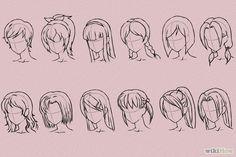 Resultado de imagen para como dibujar pelo anime