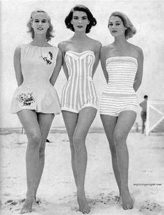 i am still carving your name on every tree i see Vintage Swim Inspiration! Find your perfect retro suit at Unique Vintage! Vintage Bathing Suits, Vintage Swimsuits, Vintage Girls, Vintage Outfits, Unique Vintage, 1950s Fashion, Vintage Fashion, Retro Swimwear, Vogue