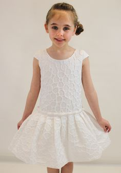 Junior Gaultier white embossed dress from Designerchildrens... #gaultier #designerkids #designerclothes #luxurykids #kidsclothes #girlsclothes #juniorgaultier #chic #beautiful #modelkids
