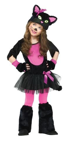This Miss Kitty Toddler Girls Costume is the puuurfect outfit for your child's next play date or Halloween party. This costume features a black cat look with pink accents and includes a cat face hood, paws and leg warmers. Creepy Halloween Costumes, Cute Costumes, Baby Costumes, Halloween Cat, Cat Costumes For Kids, Trendy Halloween, Halloween Season, Toddler Cat Costume, Toddler Girl Halloween
