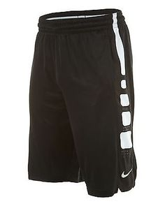 Nike Elite Stripe Short Mens 545477-010 Black White Basketball Shorts Size 2XL