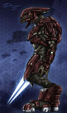 •Halo 4 Sangheili Officer by Guyver89